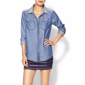 Michael Stars Tops - Michael Stars Two-Tone Chambray